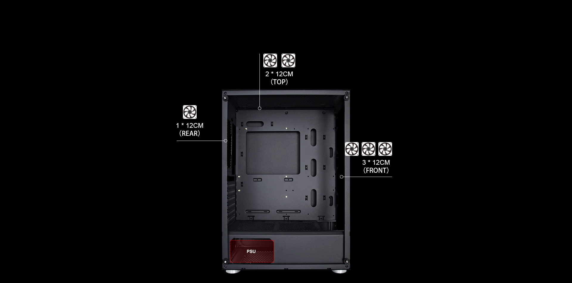 1st Player X7G Gaming Casing